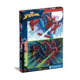 Spiderman, Puzzle Glowing, de 104 Piezas