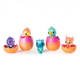 Hatchimals, Colección de 4 Huevos + Una Figura