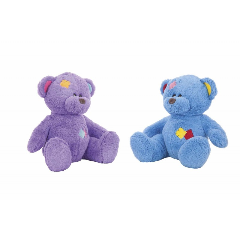 OSO PARCHES COLORINES 30 CMS. 4 COL. SURTIDOS
