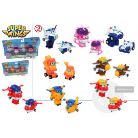Super Wings, Blister 4 Figuras, Transformables