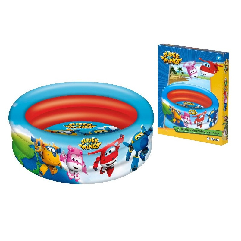 SUPERWINGS - PÌSCINA 3 ANILLOS 86 CMS.