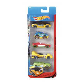 Hot Whells, Pack 5 Vehiculos