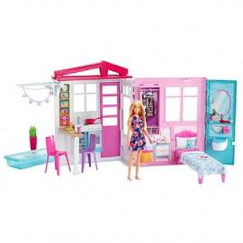 Casa de Barbie con muñeca
