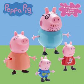 PEPPA PIG - PACK 4 FIGURAS FAMILIA PEPPA