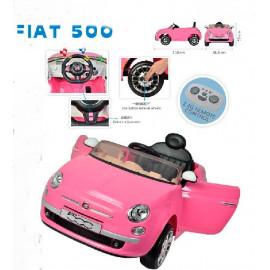 COCHE FIAT 500 ROSA 12 V. 7 AH.