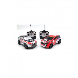 SET 2 COCHES RADIO CONTROL 1:28 RALLY EXTREME