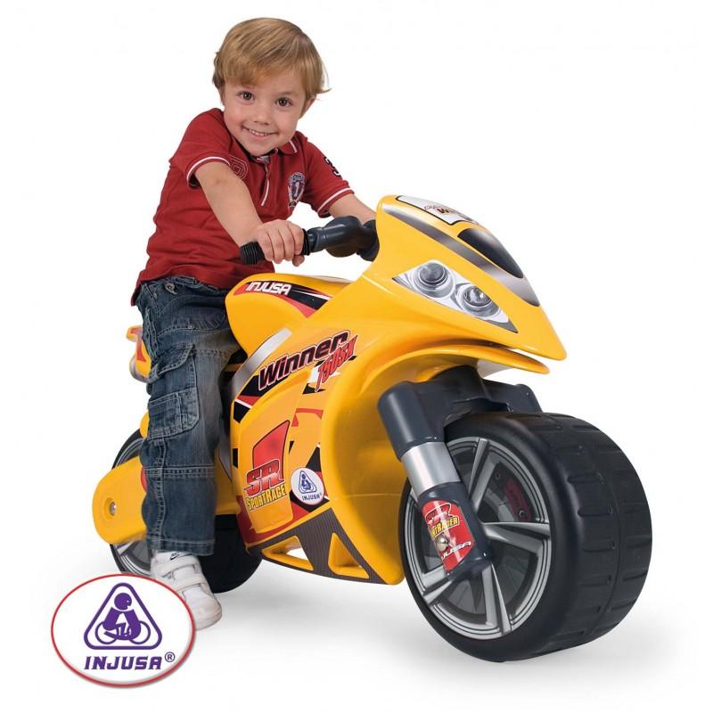Moto Correpasillos Winner, Color Amarillo