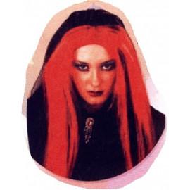 Peluca Negra y Roja, Larga