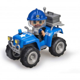 PINYPON ACTION. POLICIA CON COCHE QUAD