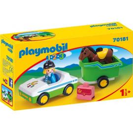 Coche con Remolque de Caballos de Playmobil 1.2.3.